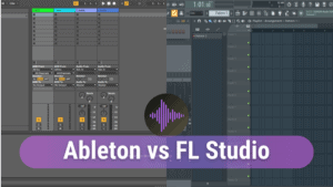 "Custom made featured image for Google's SERP when searching for ""ableton vs fl studio"""